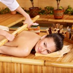 Warm bamboo massage.